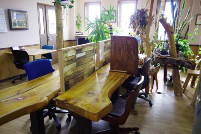 共有スペース。植物が多くゆったり過ごせます。 - Somethin' ELSE フリースペース(共有スペース)の室内の写真