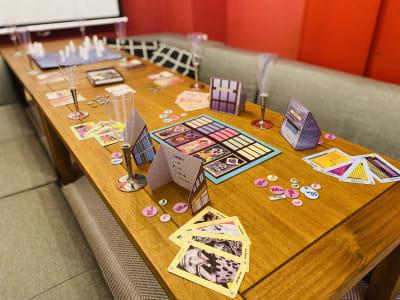 レンタルルーム シトロエン ボードゲームができるスペースの室内の写真