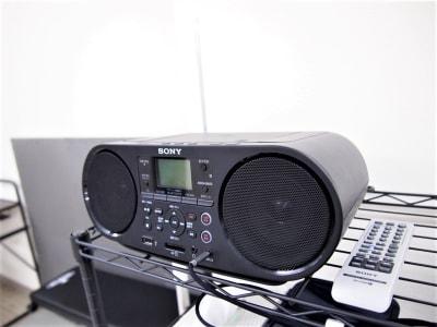 ーCDデッキー CD・携帯への接続(有線またはBluetooth)可能ですので、お好きな曲を流すことができます。 - レンタルスペースガション ダンス練習、運動、動画撮影に最適の設備の写真