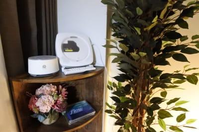 Bluetooth対応CDプレーヤー(リラックスCD2枚)、ホワイトノイズマシン完備❣️ - 福岡レンタルサロン バブ天神 完全個室のプライベートサロンの室内の写真