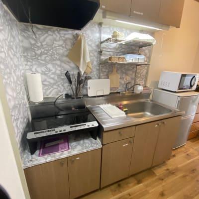 ファインキャッスル キッチン付き!お部屋スペースの室内の写真