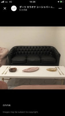 レザーソファー - 大阪梅田のおしゃれ空間 白と大理石の空間の設備の写真