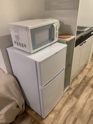 冷蔵庫、電子レンジ - テレワークブース 池袋 303の設備の写真