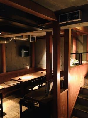 地下フロア、階段降りたところから。 - 上質レストランでコワーキング 上質レストランバーでコワーキングの室内の写真