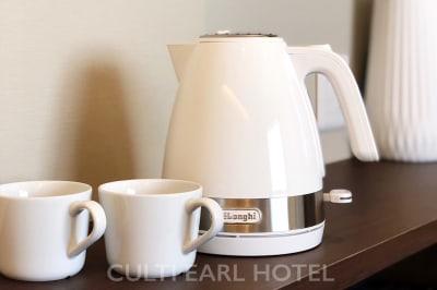 電気ケトルご用意しております - CULTI EARL HOTEL 家具ありレンタルスペース1-2の設備の写真