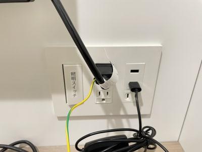 照明スイッチ、コンセント - TIMESHARING渋谷宮益坂 テレワークブースB(小)の設備の写真