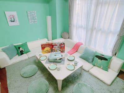 桜川駅前に女子会やデートにぴったりのとても可愛いスペースが誕生しました!!  - パーティスペース ティアラ桜川 パーティルーム、多目的スペースの室内の写真