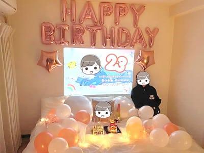 NUMA部屋 渋谷 渋谷 推し不在の誕生日会スペースの室内の写真
