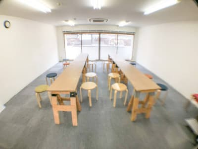 机レイアウト例2 - ロッポンギフラット レンタルスペースの室内の写真