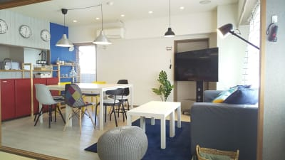 可愛い内装インテリアのリビング・ダイニング - sima sima西宝町 女子会・パーティールームの室内の写真