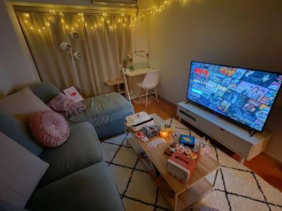 ナイトバージョン✨ イルミネーション雰囲気◎ デート、映画鑑賞に♡ - トーノア🏠新大阪 パーティスペースの室内の写真