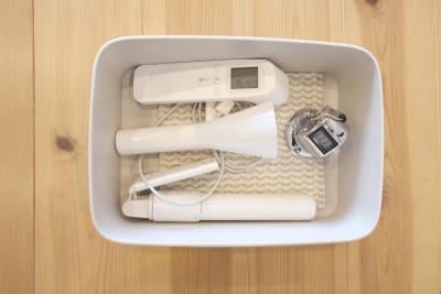 体温計、除菌アルコールも装備 - レンタルスタジオ「サンク」 多目的スタジオの設備の写真