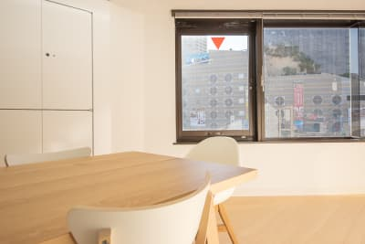 難波CITY南館前多目的スペース 眺望良し、落ち着ける右側の部屋の室内の写真