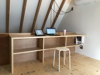 テレワークでも使用可能 - 代々木公園Yハウス レンタル撮影スタジオの室内の写真