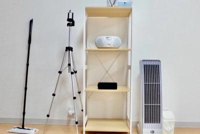 備品棚 - レンタルスタジオCapra 千葉レンタルスタジオCapraの設備の写真