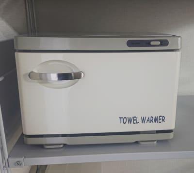 ホットタオルが作れます。  ご希望の方には使い捨てタオルもご用意がございます。 - レンタルサロン 棗伽souca 多目的スペースの設備の写真