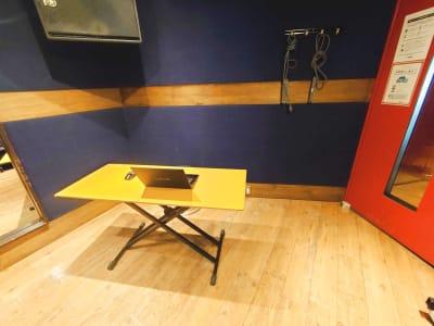 音楽スタジオなので防音には自信ありです。 ※スタジオ内一例です。 - スタジオパックス 北千住店 【初予約限定】テレワーク用防音室の室内の写真