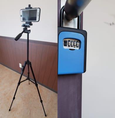 モバイル動画撮影用三脚(リモコン付)、キーボックス式施錠でどなたでも利用出来ます。 - カリマ高崎 ダンス、ヨガ、イベントスペースにの設備の写真