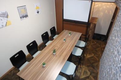 会議モード - MTGベース・ウーノ リモートミーティングスペースの室内の写真