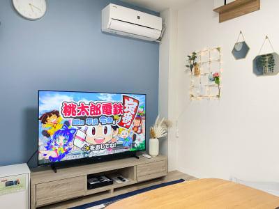Switchも大画面で! - The Room Kukkaの室内の写真