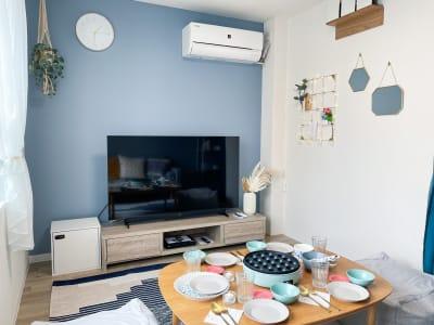 大画面55インチTV - The Room Kukkaの室内の写真