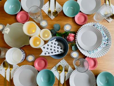かわいい食器が女子会を盛り上げます♡ - The Room Kukkaの室内の写真