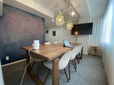 黒板壁紙 - ブルーバード5 レンタルサロン、多目的スペースの室内の写真
