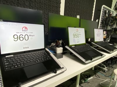 NuroBiz専用回線完備 *3スタジオ全てに完備 - 東京セミナースタジオ オンライン動画スタジオの設備の写真