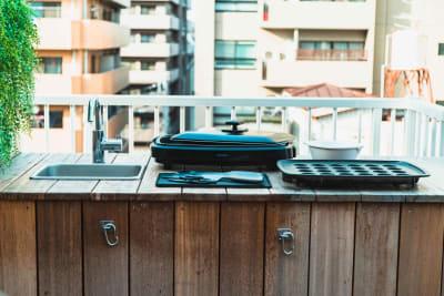 浅草駅徒歩6分の好立地スペース 完全貸切屋上BBQスペースの設備の写真