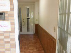 狛江通りに面した扉を開けて、その次の室内扉も開けてお入りください - レンタルスペース Mermaid (ルームB)7畳フローリングの入口の写真