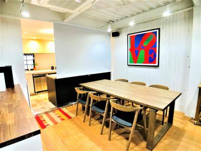 ロールスクリーン - Talkレンタルキッチン恵比寿 Talk キッチンスタジオ恵比寿の室内の写真