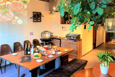 室内BBQの設備完備! - 道玄坂ガーデンスペースの室内の写真