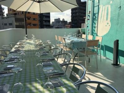 コロナが明ければ、こんなパーティーもできます!(料理のご用意はご予約ください。フロア貸しの場合食器はついていません。レンタルできます)  - ヴィネリア・ピンコパリーノ ルーフトップオープンスペースの室内の写真