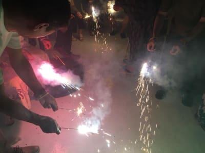 花火もできます。(爆竹・ロケット・打ち上げ花火はNG) - ヴィネリア・ピンコパリーノ ルーフトップオープンスペースの室内の写真