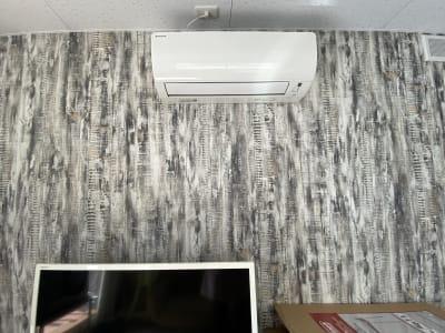 テレビとエアコン - BBQガーデン北梅田 5階 屋上の設備の写真