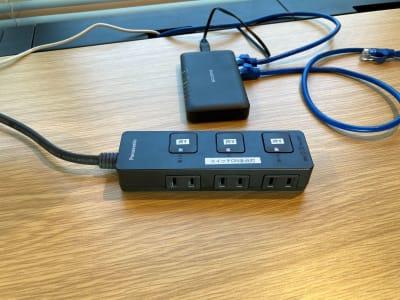 スイッチ式電源、ハブ - my place たまプラーザ テレワーク、プライベートスペースの設備の写真