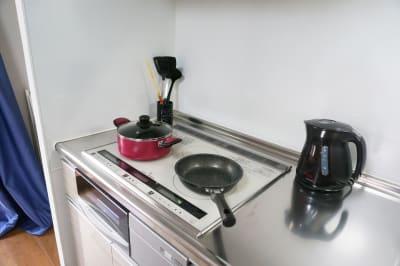 追加オプションでキッチン利用OK - OTR Park View弁天町 203号室 多目的スペースの室内の写真