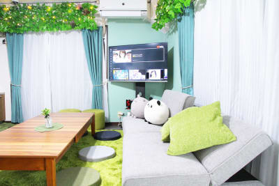 ソファーベッドで少しお休み♪ - アネックス新大阪 SpaceLikeの室内の写真