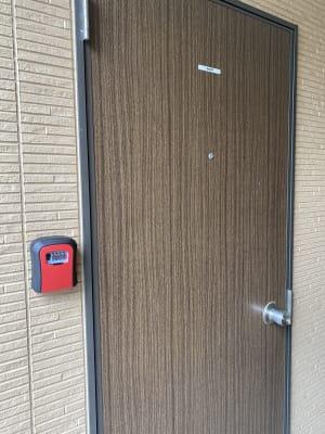 部屋の鍵は鍵ボックスでの簡単受け渡し、返却 - 木鶏荘(モッケイソウ) 宗像テレワークスペース107の室内の写真