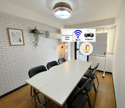 普段は会議室としても使用しています。  ※机は戻す必要があります - Oreo Space 相模原 OreoSpace相模原/サロンの室内の写真