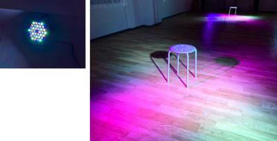 パーライトは2つあります。ライトの色、点灯のリズムを自由に変更できます(パーライト使用) - 大宮とらのスタジオの室内の写真