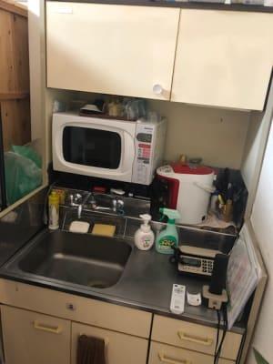 レンジ、ポット、グラス 保冷庫あり - アプローズアネックス レンタルサロンの設備の写真