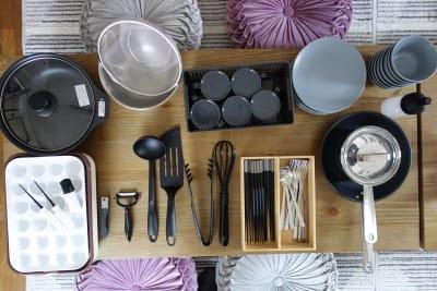 食器・カトラリー等充実しています。(食器・カトラリーは無料、調理器具は有料オプションです) - レンタルスペースくまもと 上乃裏の設備の写真