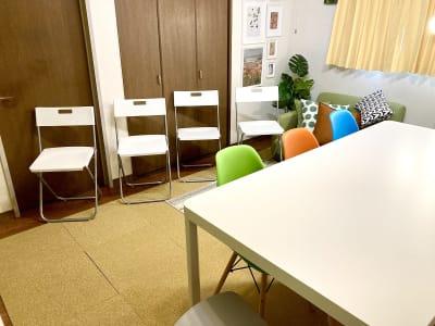 補助用折り畳み椅子 - としょかんのうら・かしわ 柏レンタルスペース・貸し会議室の室内の写真