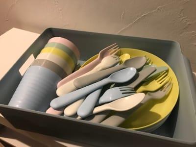 食器セット(5点セット) 6人分につき¥500✨ - レンタルームふじみ野 音楽♪🆗 映画会、誕生日会等✨の室内の写真