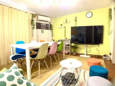 8畳程度の広さのスペースです。 - としょかんのうら・かしわ 柏レンタルスペース・貸し会議室の室内の写真