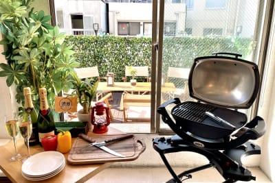 グランピングBBQも楽しめます!! - 渋谷ガーデンルーム4F 渋谷ガーデンルーム4Fの室内の写真