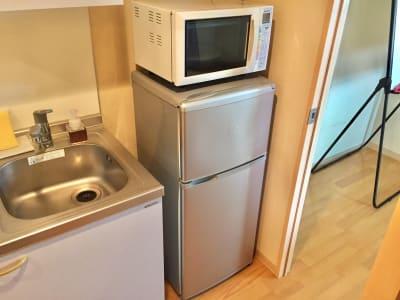 電子レンジ、冷蔵庫あり - 【完全貸切】秋葉原駅より徒歩圏内 個室(12名利用可)の室内の写真