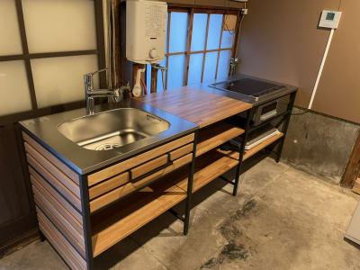 キッチン設備 - しょうずの宿 濱風 古民家多目的スペースの室内の写真