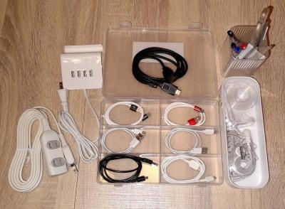 HDMIケーブル、USBケーブル(C・micro・iPhone) ・文房具類各種  - MTBベースdue(ドゥーエ) 貸し会議室・リモートワークの設備の写真